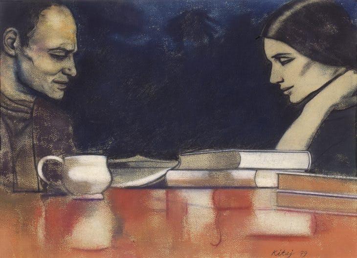 Two London Painters (Frank Auerbach and Sandra Fisher), (1979), R.B. Kitaj, Los Angeles County Museum of Art