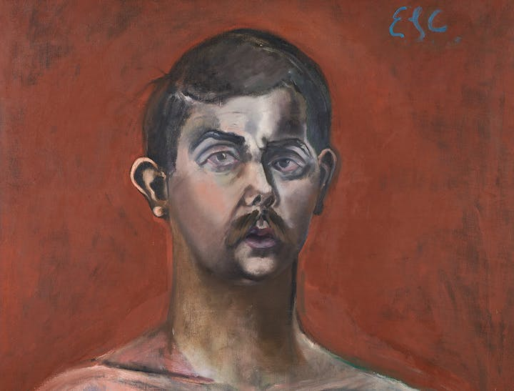 Self-Portrait (detail; 1960), Eduardo Carrillo. Courtesy of Pasadena Museum of California Art