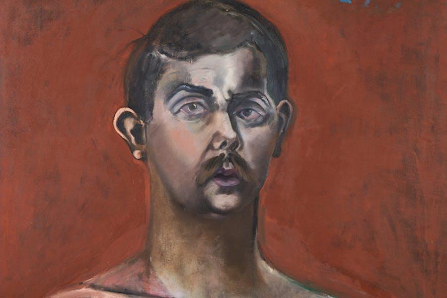 Self-Portrait (detail; 1960), Eduardo Carrillo. Courtesy of Pasadena Museum of California Art