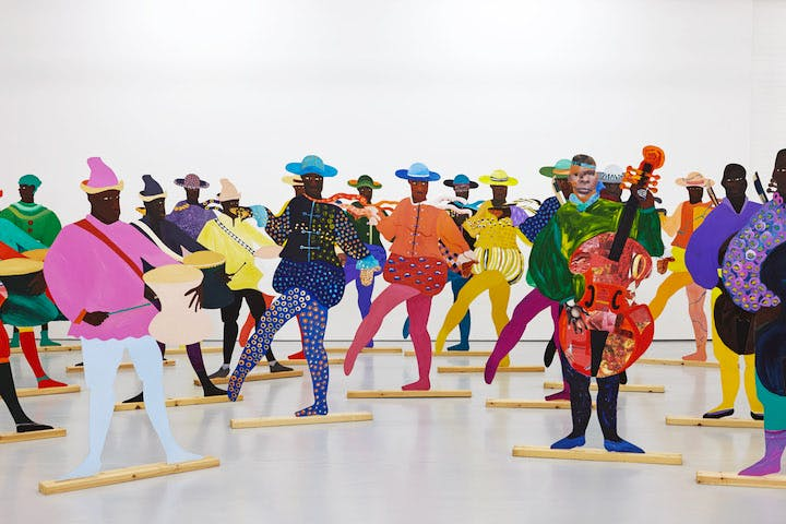 Naming the Money (detail; 2014), Lubaina Himid. Courtesy the artist, Hollybush Gardens and National Museums Liverpool, International Slavery Museum © Spike Island, Bristol. Photo credit: Stuart Whipps