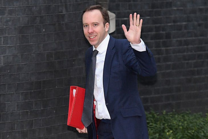 New UK Culture, Media and Sports Secretary Matt Hancock arriving at 10 Downing Street on 9 January 2018. Photo by Leon Neal/Getty Images