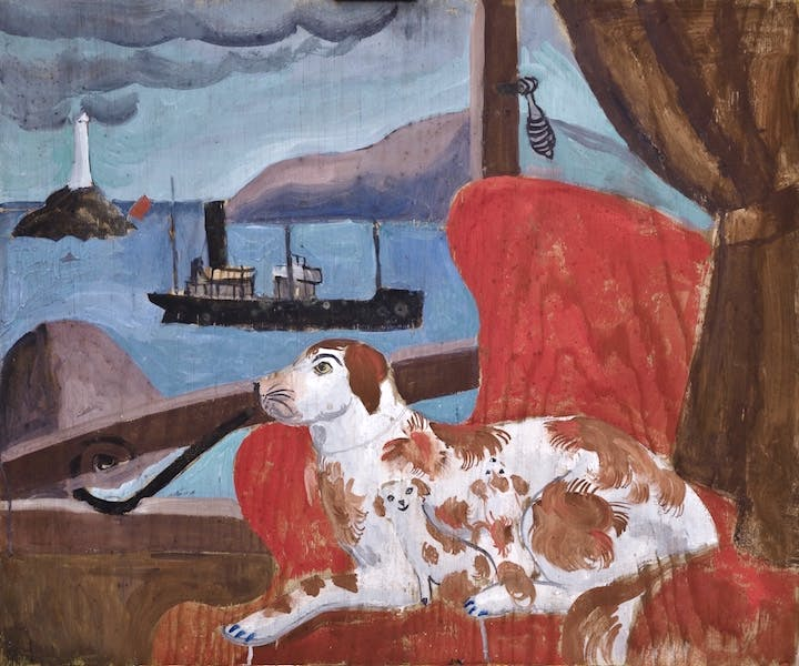 China Dogs in a St. Ives Window (1926), Christopher Wood. Courtesy of Pallant House Gallery