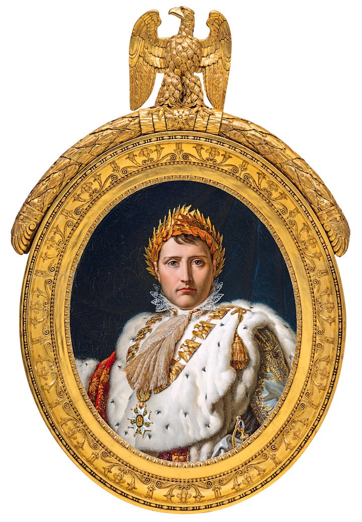 Bust-length Portrait of Napoleon in Coronation Robes (c. 1805–1814), workshop of François-Pascal-Simon Gérard. Photo: MMFA, Christine Guest.