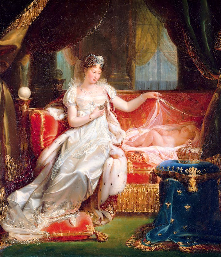 The Empress Marie-Louise Watching Over the Sleeping King of Rome (1811), Joseph Franque. © RMN-Grand Palais / Art Resource, NY / Daniel Arnaudet