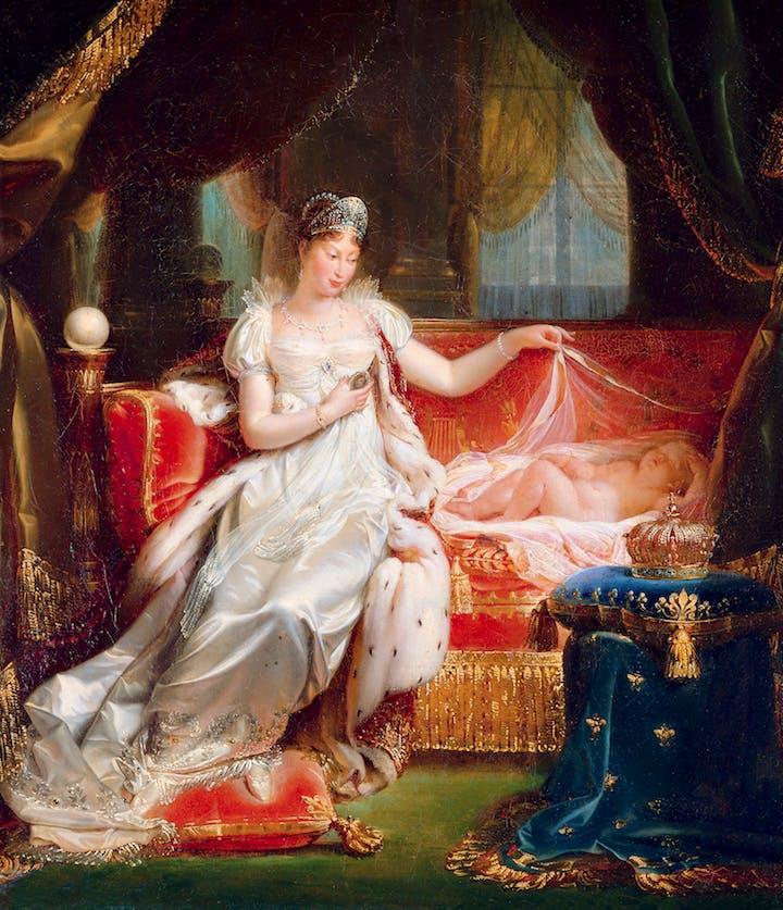 The Empress Marie-Louise Watching Over the Sleeping King of Rome (1811), Joseph Franque. © RMN-Grand Palais / Art Resource, NY / Daniel Arnaudet