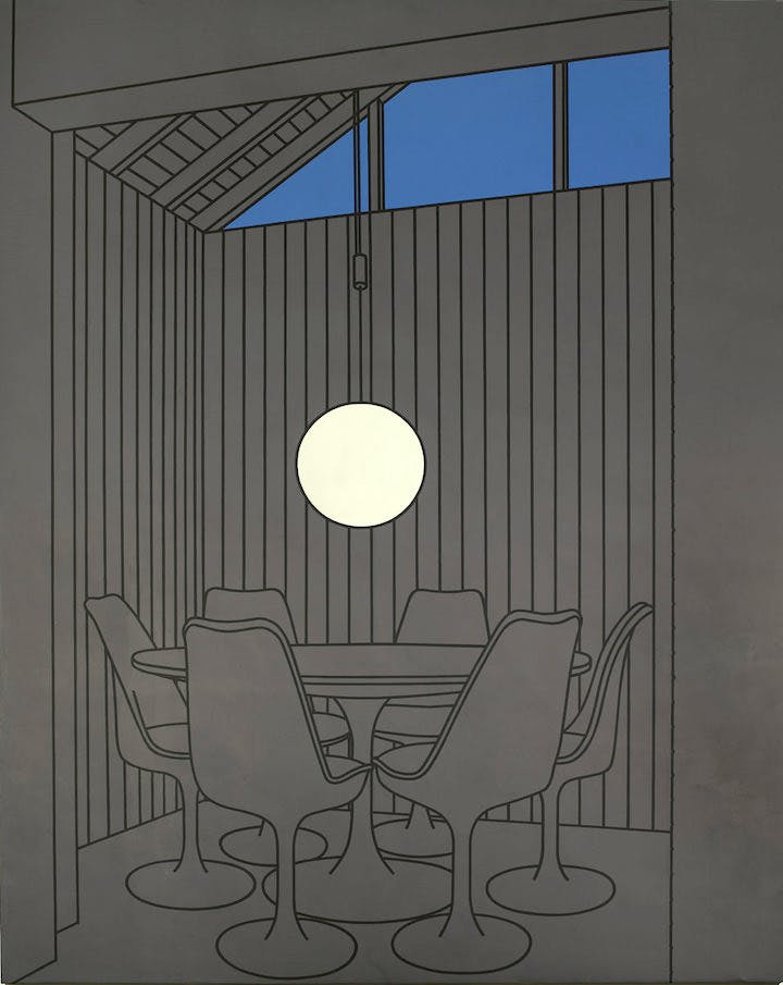 Dining Recess (1972), Patrick Caulfield. Arts Council Collection, Southbank Centre, London © Estate of Patrick Caulfield, all rights reserved DACS 2017