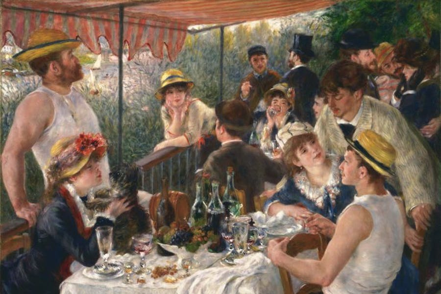 Luncheon of the Boating Party, (1880–81), Pierre-Auguste Renoir. Dallas Museum of Art