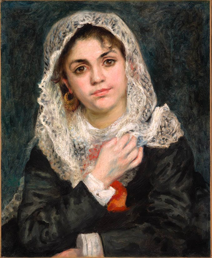 Lise in a White Shawl, (1872), Pierre-Auguste Renoir, Dallas Museum of Art