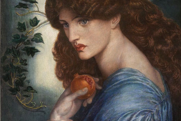 Proserpine (detail; 1878), Dante Gabriel Rossetti. Agnews (price on application)