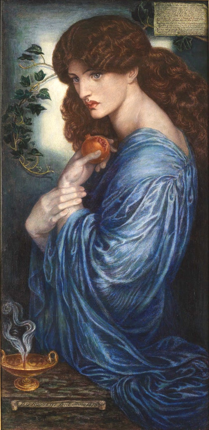 Prosperine (1878), Dante Gabriel Rossetti. Agnews (price on application)