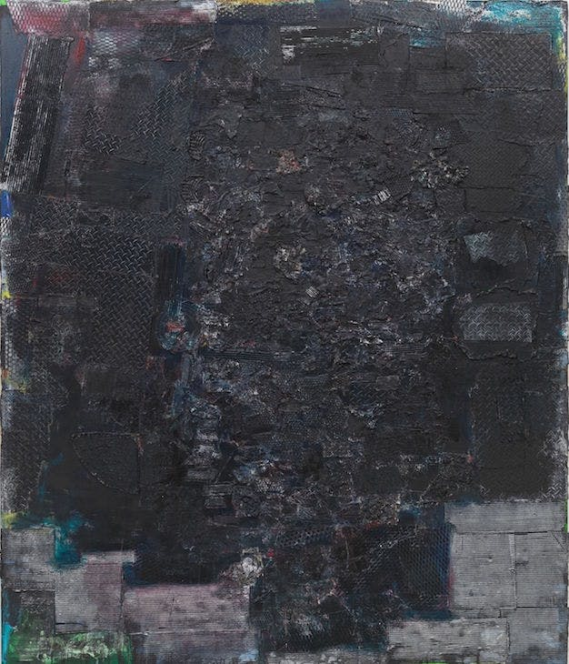 Black Monolith I, A Tribute to James Baldwin (1988), Jack Whitten.