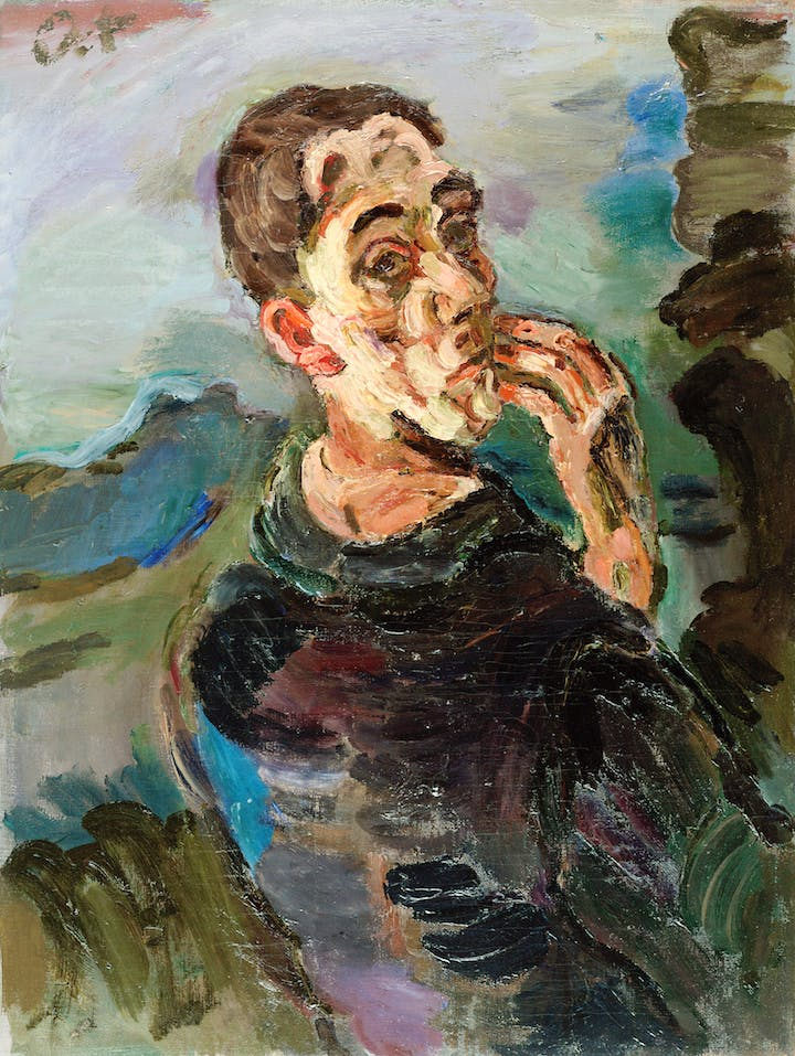 Self-Portrait, One Hand Touching the Face (1918/19), Oskar Kokoschka. Photo: Leopold Museum, Wien © Fondation Oskar Kokoschka/Bildrecht, Wien, 2017