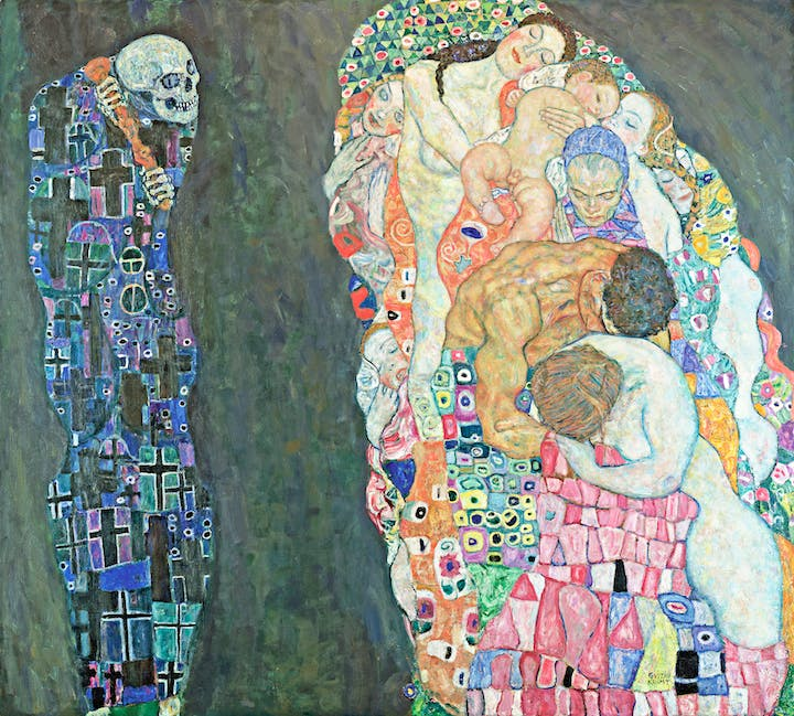 Death and Life (1910/11, reworked 1915/16), Gustav Klimt. Photo: Leopold Museum, Wien