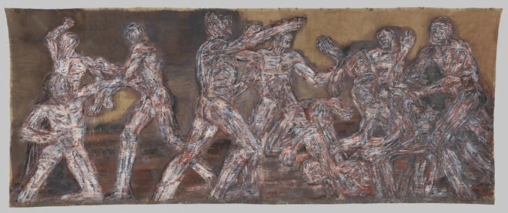 Gigantomachy II (1966), Leon Golub. The Metropolitan Museum of Art, New York.
