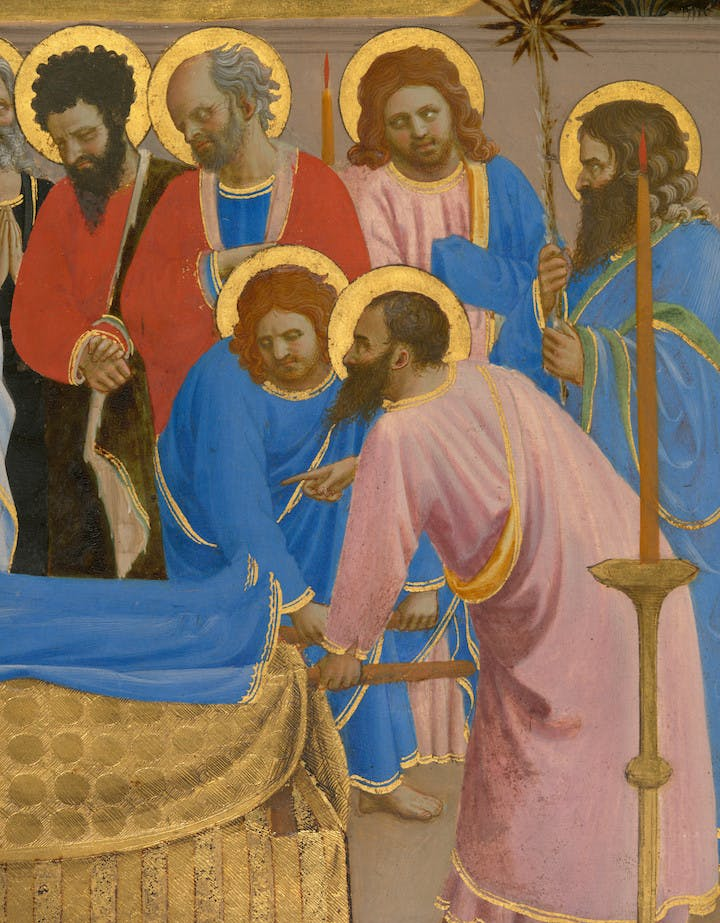 The Dormition and Assumption of the Virgin (detail; 1424-34), Fra Angelico. Courtesy of Isabella Stewart Gardner Museum, Boston