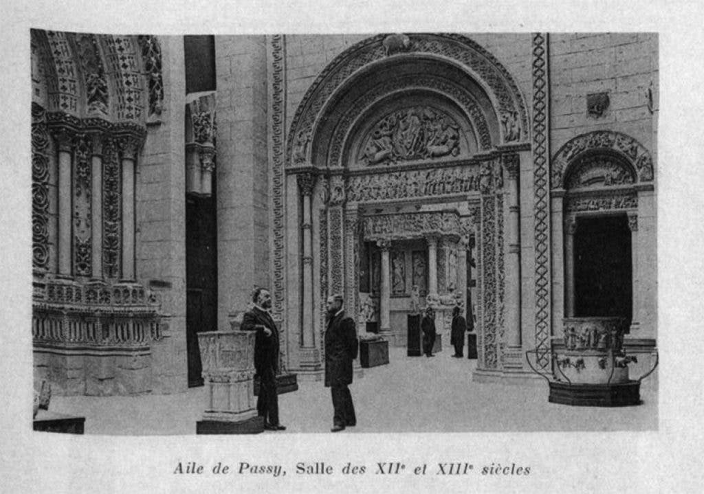 Twelfth- and 13th-century galleries at the Trocadéro, Paris, from 'Catalogue général du Musée de sculpture comparée au Palais du Trocadéro (moulages)' (1910) by Camille Enlart and Jules Roussel.