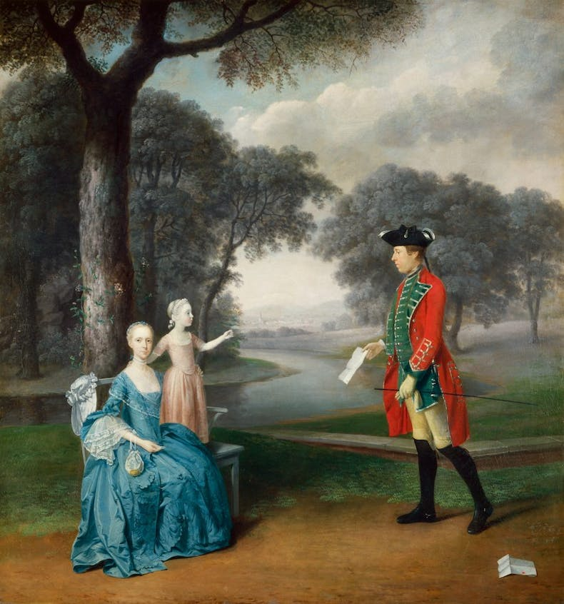 Francis Vincent, his wife Mercy, and daughter Ann, of Weddington Hall, Warwickshire, (1763), Arthur Devis, Harris Museum and Art Gallery, Preston