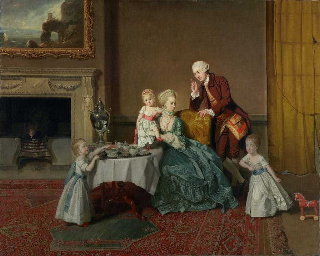 Lord Willoughby de Broke and his Family, (c. 1766), Johan Zoffany.