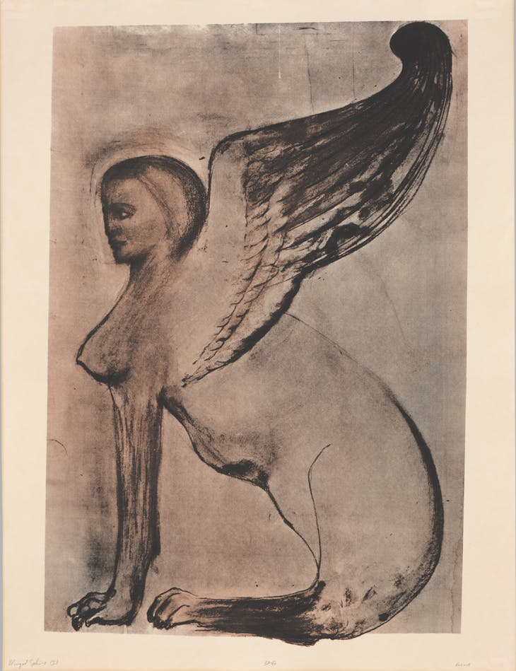 Winged Sphinx I (1972), Leon Golub. The Metropolitan Museum of Art, New York