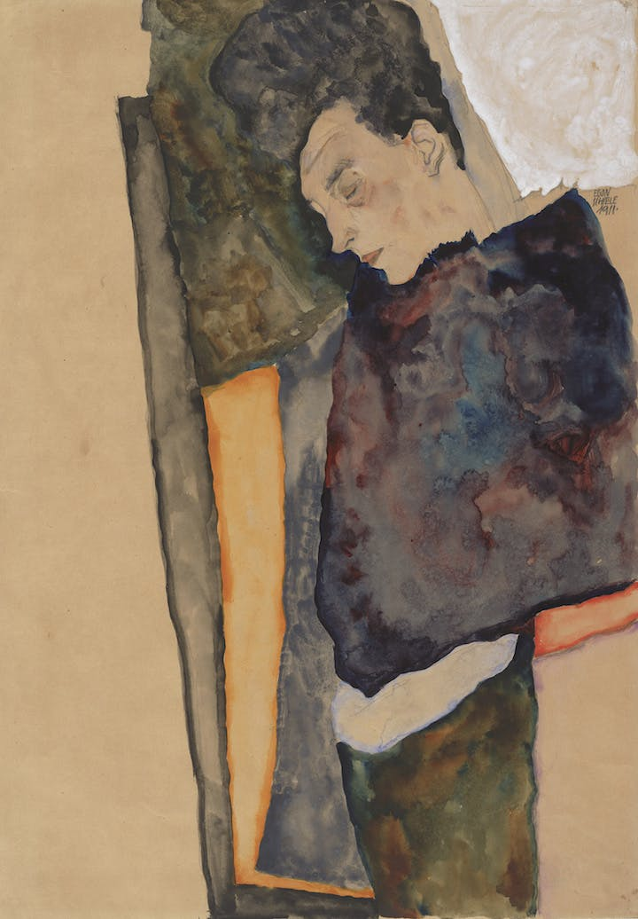 The Artist's Mother, Sleeping (1911), Egon Schiele. Courtesy of Albertina, Vienna and Museum of Fine Arts, Boston