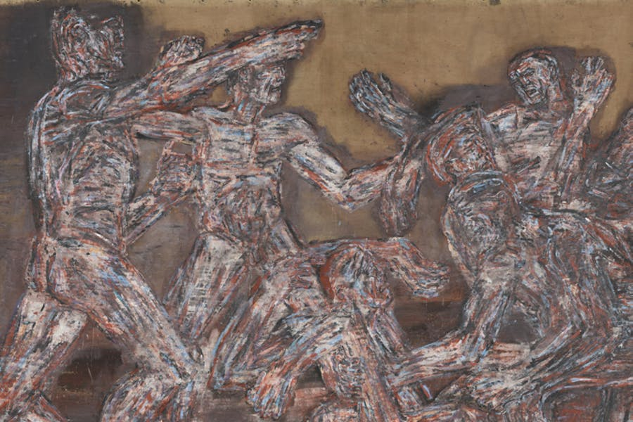 Gigantomachy II (detail; 1966), Leon Golub. The Metropolitan Museum of Art, New York.
