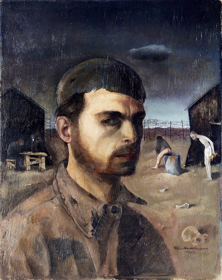 Self-Portrait in Camp (1940), Felix Nussbaum. © 2018 Artists Rights Society (ARS), New York / VG Bild-Kunst, Bonn