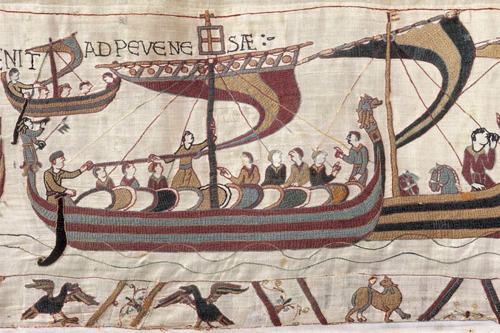 A section of the Bayeux Tapestry.