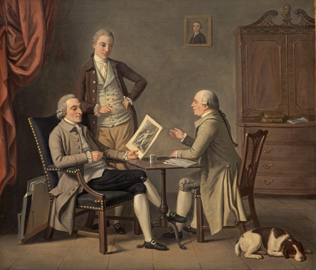 The Connoisseurs, (1783), David Allan, Scottish National Gallery, Edinburgh