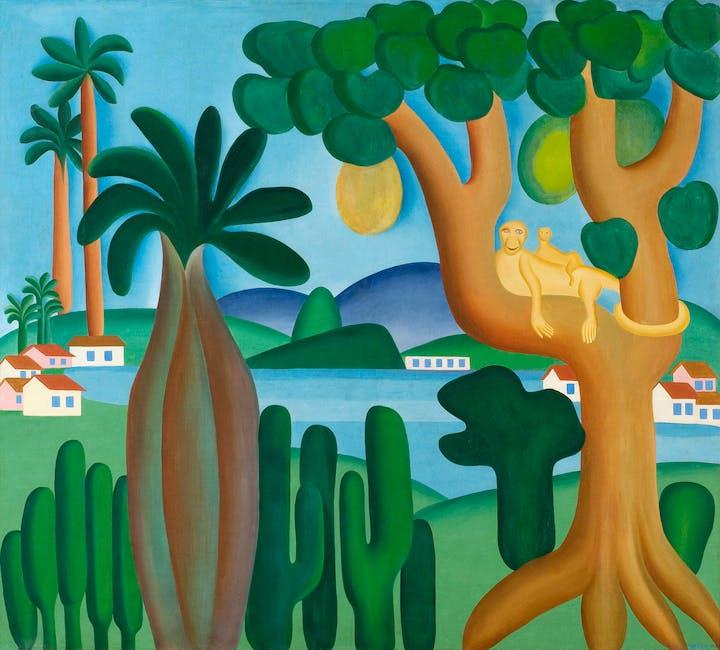 Postcard (Cartão-postal) (1929), Tarsila do Amaral. © Tarsila do Amaral Licenciamentos