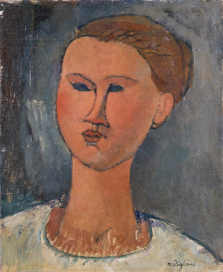 Head of a Young Woman (1915), Amedeo Modigliani.