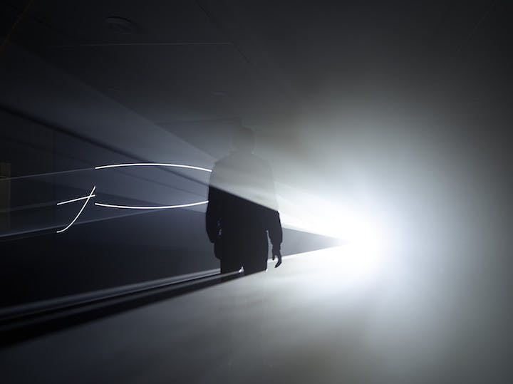 """Face to Face (II)"" (2013), Anthony McCall. Photograph: Hans Wilschut"