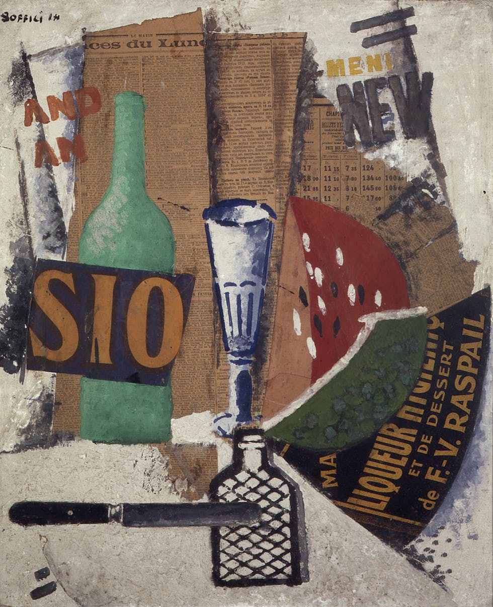 Watermelon and Liqueurs (1914), Ardengo Soffici.