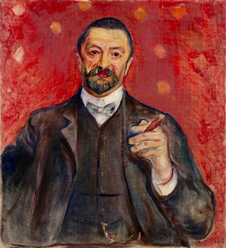 Felix Auerbach (1906), Edvard Munch. Courtesy of the Van Gogh Museum