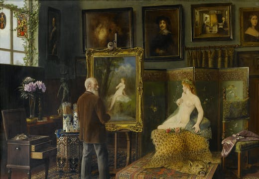 In the Artist's Studio (1920), Carl Johann Spielter.