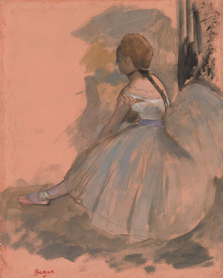 Seated Dancer (1871–72), Edgar Degas. Thaw Collection, Morgan Library & Museum, New York