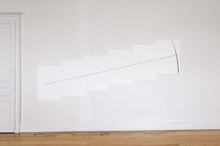 Five Minute Drawing (1974/2007), Anthony McCall. Photograph: Bruno Barlier