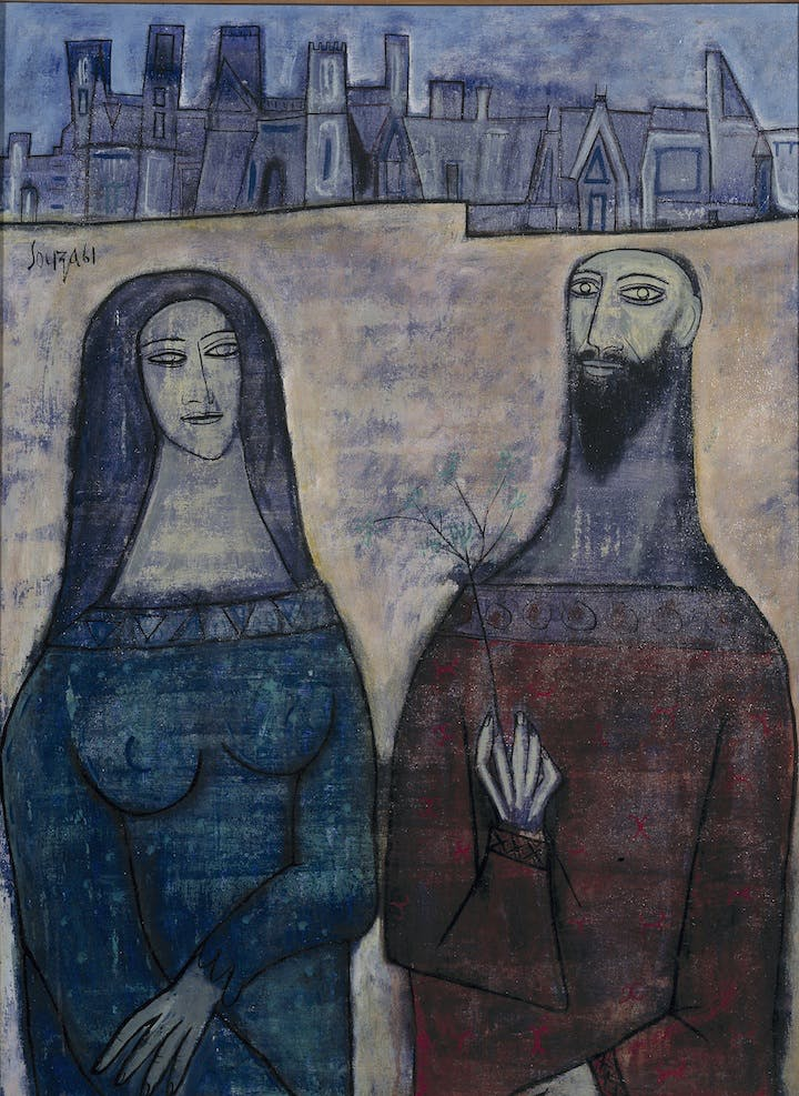 Two Saints in a Landscape (1961), F. N. Souza. © The estate of F.N. Souza/DACS, London 2017