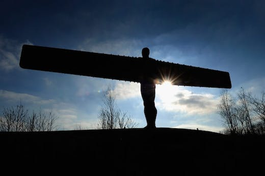A general view of the Angel of the North on February 3, 2012 in Gateshead, Newcastle upon Tyne, England.