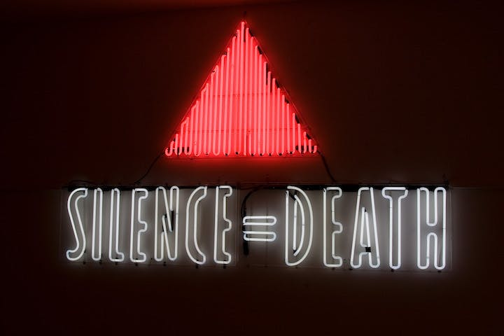 SILENCE = DEATH (1987), ACT UP (Gran Fury). Courtesy New Museum, New York