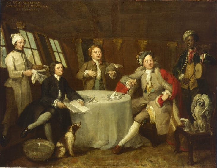 Captain Lord George Graham in his Cabin, (c. 1745), William Hogarth. National Maritime Museums, Greenwich