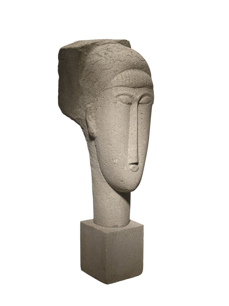 Head (1911–12), Amedeo Modigliani. Minneapolis Institute of Art