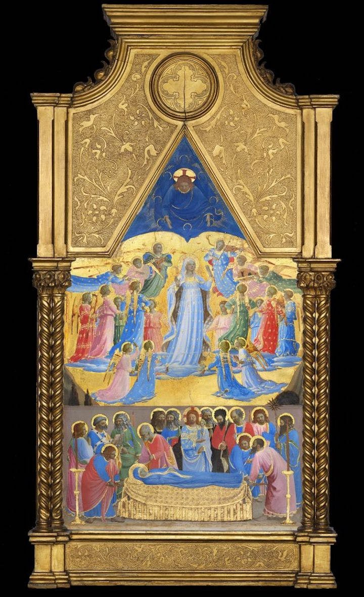 The Dormition and Assumption of the Virgin (1424-34), Fra Angelico. Courtesy of Isabella Stewart Gardner Museum, Boston