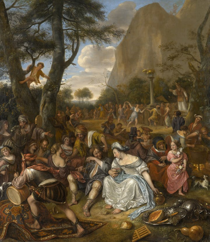 The Worship of the Golden Calf (c. 1674–77), Jan Steen. North Carolina Museum of Art, Raleigh