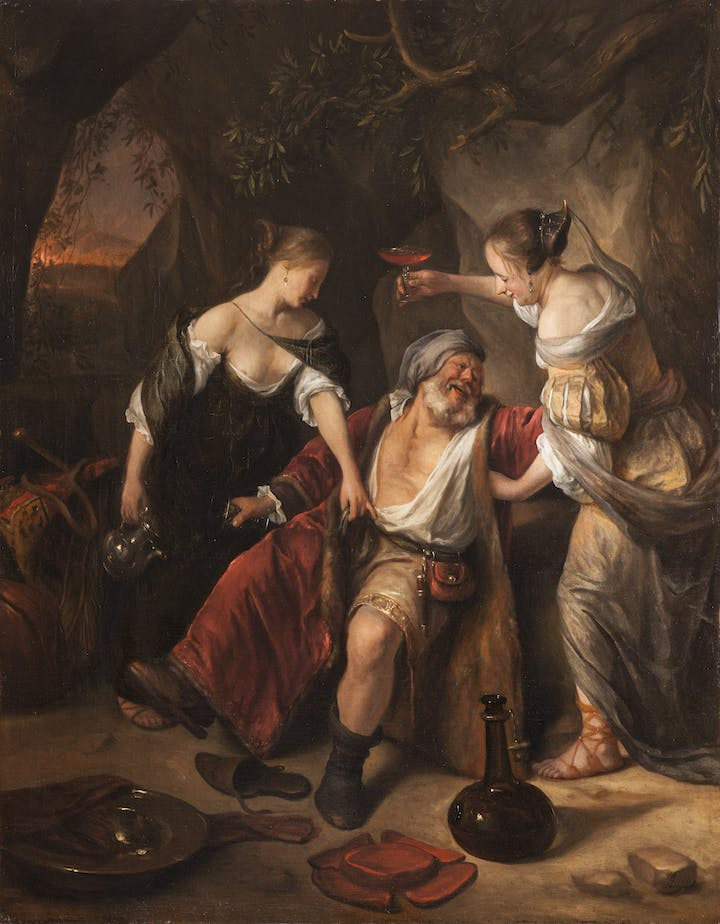 Lot and his Daughters (c.1665–67), Jan Steen. Städtische Wessenberg-Galerie, Konstanz