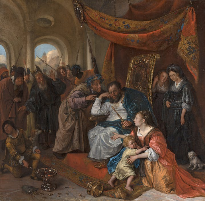 Moses and Pharaoh's Crown (c. 1670), Jan Steen. Mauritshuis, The Hague