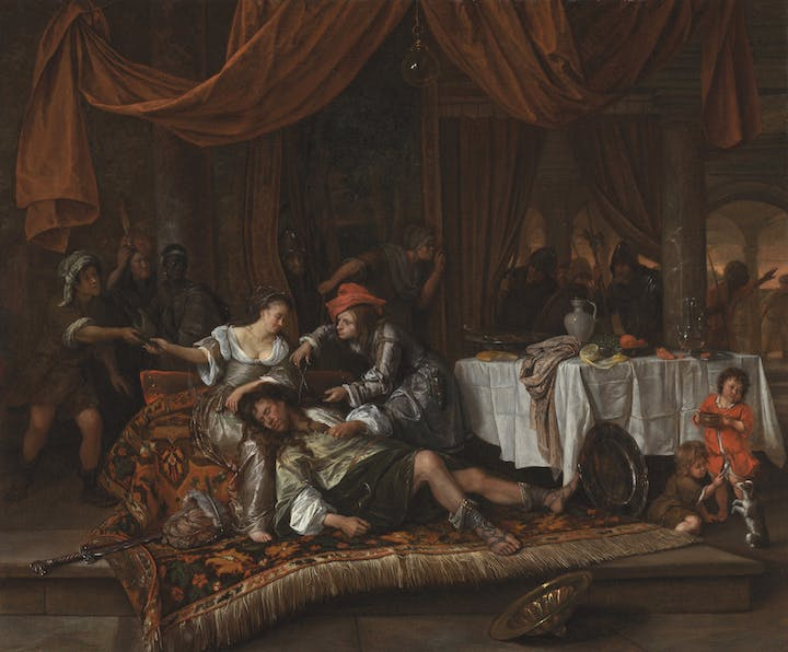 Samson and Delilah (1668), Jan Steen. Los Angeles County Museum of Art