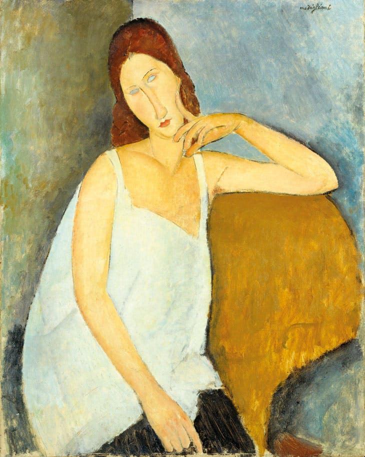 Jeanne Hébuterne (1919), Amedeo Modigliani. Metropolitan Museum of Art, New York