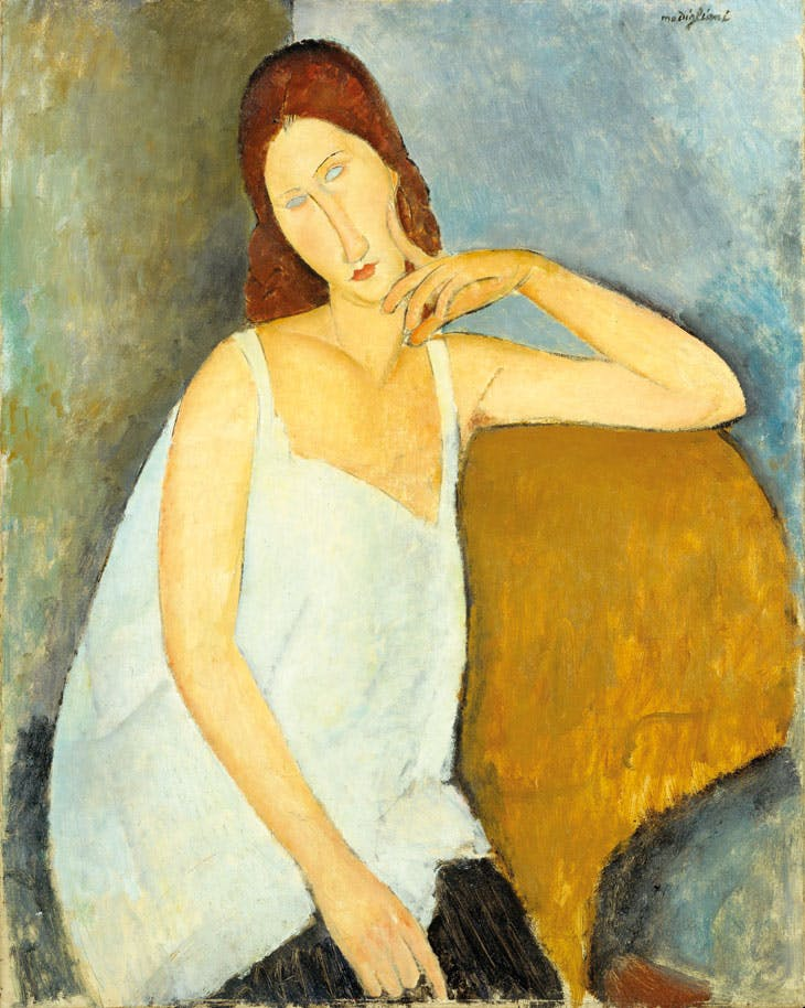 Jeanne Hébuterne (1919), Amedeo Modigliani. Metropolitan Museum of Art, New York
