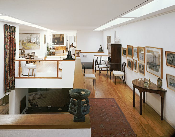 Installation view of Kettle's Yard, showing the house extension designed by Leslie Martin and opened in 1970