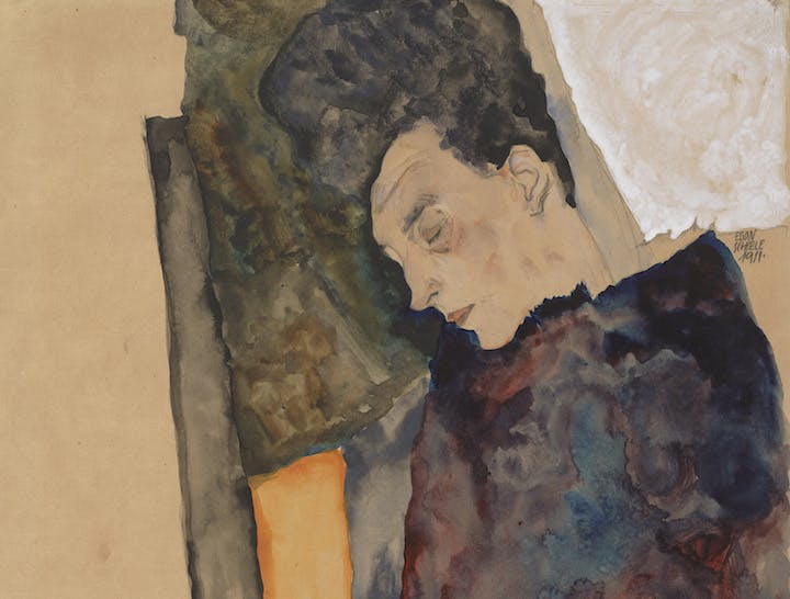 The Artist's Mother, Sleeping (detail; 1911), Egon Schiele. Courtesy of Albertina, Vienna and Museum of Fine Arts, Boston